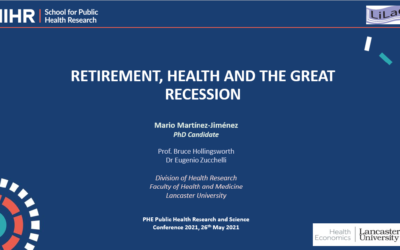 Retirement, health and the Great Recession